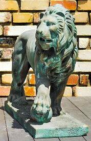 イタリア製動物石像(ガーデンオーナメント) ドッカーレ宮のライオン(右) 青銅吹付仕上げ (1体での販売) Art.603b PapiniAgostino