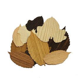 【木製オブジェ】吹き寄せ 木の葉 ◇自然◇日本製オブジェ 飾り品 しおり 書籍 ブックマーカー 栞