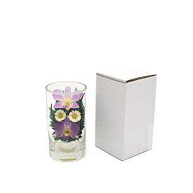 プリザーブドフラワー『グラスフラワーS1048』シングルタイプ(箱付き)★ガラスの器入りSサイズ(高さ約12cm)きれいなプリザーブドフラワー プレゼントプリザーブドフラワー 観賞用プリザーブドフラワー 仏花 造花 お供え花 お盆仏花 お彼岸仏花