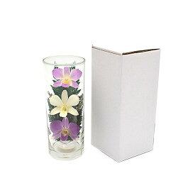 プリザーブドフラワー『グラスフラワーL1050』シングルタイプ(箱付き)★ガラスの器入りLサイズ(高さ約17cm)きれいなプリザーブドフラワー プレゼントプリザーブドフラワー 観賞用プリザーブドフラワー 仏花 造花 お供え花 お盆仏花 お彼岸仏花