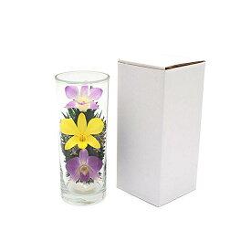 プリザーブドフラワー『グラスフラワーL1051』シングルタイプ(箱付き)★ガラスの器入りLサイズ(高さ約17cm)きれいなプリザーブドフラワー プレゼントプリザーブドフラワー 観賞用プリザーブドフラワー 仏花 造花 お供え花 お盆仏花 お彼岸仏花