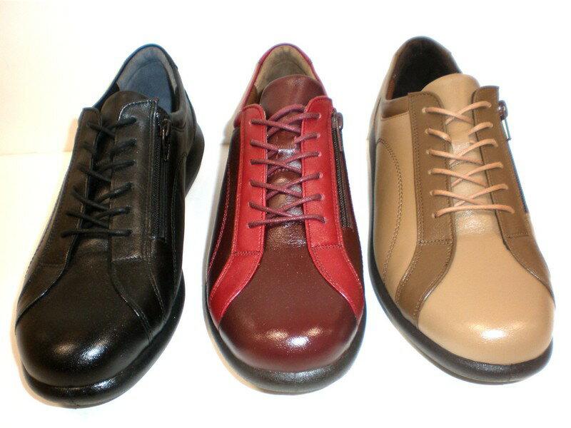 【心地よさにもオシャレにもこだわるSPORTHスポルスより極上の履き心地のシューズが新登場!】月星スポルス 5001 レディース 天然皮革 コンフォート靴 仕事靴 トラベルシューズ ブラック・ワインコンビ・ブロンドコンビ