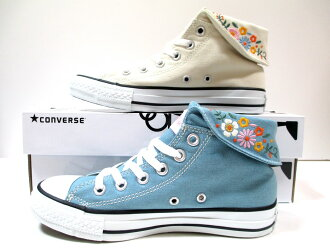"""""""Must see"""" national maximum luxury items! [Converse all star, converse all star flower colors OX ivory, blue CONVERSE ALL STAR FLOWERCOLLAR OX [women's] sneakers"""