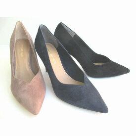 ストロベリーフィールズ STRAWBERRY-FIELDS ST3833 レディース Vカットパンプス スエードパンプス ピンヒール フォーマル靴 パーティー靴 仕事靴 通勤靴 ブラック ネイビー グレーベージュ