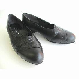 送料無料 Parco 300 外反母趾の方でもお勧めの品です レディース 日本製 フォーマル 超軽量 普段履き 通勤靴 仕事靴 ブラック