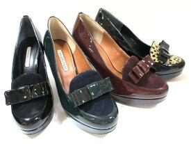 ストロベリー フィールズ STRAWBERRY FIELDS ST8023 レディース リボン パンプス ハイヒール 厚底 フォーマル パーティー 通勤靴