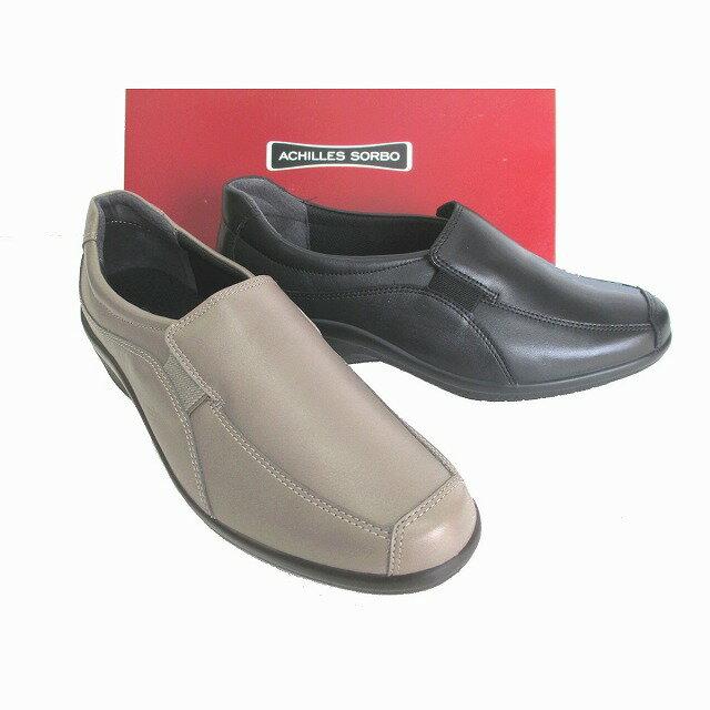 [アキレスソルボ]【履くほどに愛着が湧く、手放せない1足になりそう。】Achilles SORBO 291 SRL2910 レディース 日本製 本革 カジュアルウォーキング コンフォート靴 通勤靴 仕事靴 軽量 ブラック ゴールド
