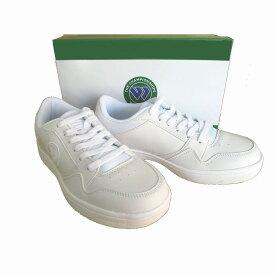 アサヒウインブルドン ASAHI WIMBLEDON 037 メンズ レディース スニーカー レースアップ 通学靴 仕事靴 軽量 ホワイト/ホワイト