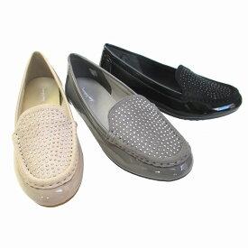 アンナコレクション ANNA COLLECTION 3254 レディース カジュアルシューズ ラインストーン リゾート靴 スリッポン 仕事靴 ブラックE ライトグレーE ベージュE