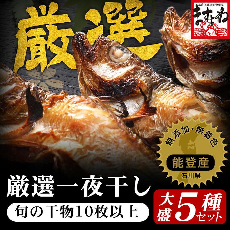 【日本海産】[無添加/豪快5種10枚前後の干物福袋セット(一夜干し・味醂干し・いしる漬)][送料無料][海鮮/魚介/干物/干物セット/お取り寄せ]