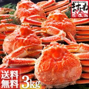 [訳あり(足折れ/キズ有)]ボイルずわい蟹/姿3kg前後[5匹〜7匹入り][送料無料](かに/カニ/蟹/ずわいがに/ズワイガニ)