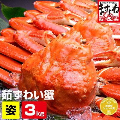 お徳用!ボイルずわい蟹/姿3kg前後5匹入り[送料無料]