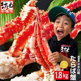 衝撃15%OFFクーポンで1kgあたり最安級6783円!【プレミアム品】特大タラバ蟹/足1.8kg(総重量2kg)(ボイル/冷凍)約4-5人前[送料無料][オホーツク海産厳選][かに/カニ/蟹/たらば蟹/タラバ蟹/たらばがに/タラバガニ]プレゼント 食べ物 食品