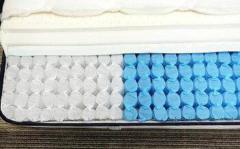 3ゾーンポケットマットレス(ねむり専科)ホワイトセミダブル
