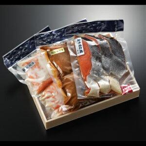 鮭紀行(塩引き鮭、鮭の味噌漬け、鮭の粕漬け)ギフトにおすすめ のし対応