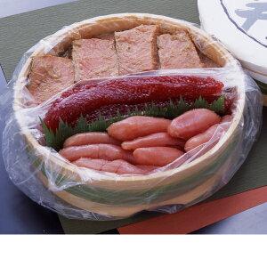 三色樽詰め1280g[鮭の味噌漬(720g)筋子(280g)たら子(280g)]タル入り、御中元、夏の贈り物、ギフトにおすすめ、のし対応、ご飯のおかず