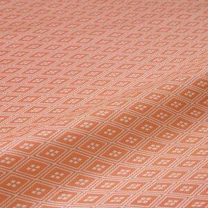 西陣織 はぎれ 三線菱 オレンジ シルク 半巾30cm 金襴緞子 布地 正絹 端切れ 人形 衣装 和布 和風生地 和生地 長さ10cm単位