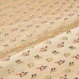 雲 ベージュ 西陣織 錦裂 錦裂 金襴 正絹 シルク 半巾30cm 長さ10cm単位 和柄生地 布地 はぎれ 端切れ カットクロス 和布 和風生地 和生地