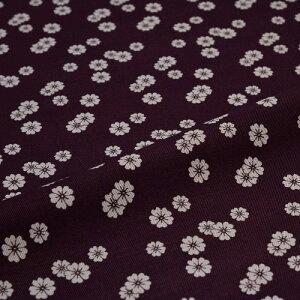 西陣織 はぎれ 小桜散らし 紫 錦裂 正絹 金襴緞子 半巾30cm 和柄生地 布地 端切れ カットクロス 和布 和風生地 和生地 長さ10cm単位