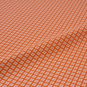 西陣織 はぎれ 小菱詰 オレンジ 錦裂 正絹 シルク化繊混紡 シルク 巾60cm 御朱印帳 布地 端切れ カットクロス 和布 和風生地 和生地 長さ10cm単位