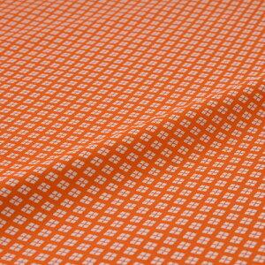 西陣織 はぎれ 小菱詰 オレンジ 錦裂 正絹 シルク化繊混紡 シルク 半巾30cm 御朱印帳 布地 端切れ カットクロス 和布 和風生地 和生地 長さ10cm単位