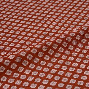 西陣織 はぎれ 菊菱 赤 錦裂 正絹 シルク化繊混紡 シルク 巾60cm 御朱印帳 布地 端切れ カットクロス 和布 和風生地 和生地 長さ10cm単位