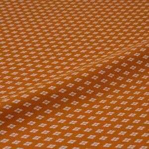 西陣織 はぎれ 新小菱 オレンジ 錦裂 正絹 シルク化繊混紡 シルク 半巾30cm 御朱印帳 布地 端切れ カットクロス 和布 和風生地 和生地 長さ10cm単位