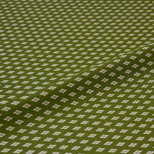 西陣織 はぎれ 新小菱 緑 錦裂 正絹 シルク化繊混紡 シルク 巾60cm 御朱印帳 布地 端切れ カットクロス 和布 和風生地 和生地 長さ10cm単位