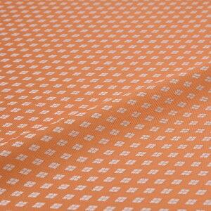 西陣織 はぎれ 新小菱 オレンジ 錦裂 正絹 シルク化繊混紡 シルク 巾60cm 御朱印帳 布地 端切れ カットクロス 和布 和風生地 和生地 長さ10cm単位