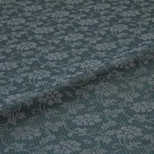牡丹唐草 矢鱈縞 緑 西陣織 緞子 表具地 正絹 シルク化繊混紡 シルク 巾60cm 長さ10cm単位 和柄生地 カバー はぎれ 端切れ カットクロス 和布 和風生地 和生地