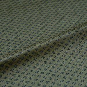 花菱 緑 西陣織 緞子 表具地 正絹 シルク化繊混紡 半巾30cm 長さ10cm単位 和柄生地 カバー はぎれ 端切れ カットクロス 和布 和風生地 和生地