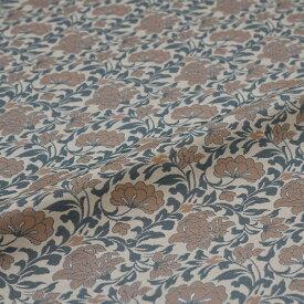 花唐草 ベージュ 西陣織 緞子 表具地 正絹 シルク 巾60cm 長さ10cm単位 和柄生地 布地 はぎれ 端切れ カットクロス 和布 和風生地 和生地