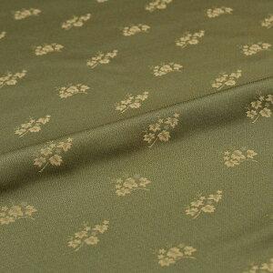 蔦 入子菱 緑 西陣織 正絹 シルク 巾60cm 長さ10cm単位 和風小物 布地 はぎれ 端切れ カットクロス 和布 御朱印帳 カバー