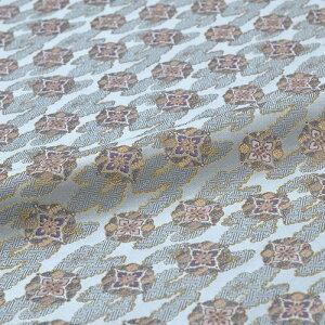 花丸 雲取り 沙綾形 青 西陣織 正絹 シルク 巾60cm 長さ10cm単位 和風小物 布地 はぎれ 端切れ カットクロス 和布 御朱印帳 カバー