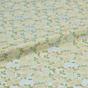 桜 白 西陣織 正絹 シルク 巾60cm 長さ10cm単位 和風小物 布地 はぎれ 端切れ カットクロス 和布 御朱印帳 カバー