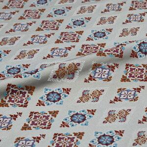 菱 花 灰 西陣織 正絹 シルク 巾30cm 長さ10cm単位 和風小物 布地 はぎれ 端切れ カットクロス 和布 御朱印帳 カバー