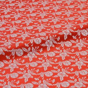 桜 赤 西陣織 正絹 シルク 巾60cm 長さ10cm単位 和風小物 布地 はぎれ 端切れ カットクロス 和布 御朱印帳 カバー