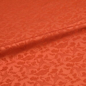 雲鶴 有職文様 赤 西陣織 正絹 シルク 巾30cm 長さ10cm単位 和風小物 布地 はぎれ 端切れ カットクロス 和布 御朱印帳 カバー