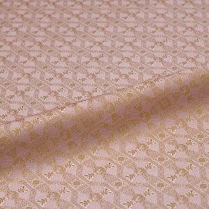 蜀江 ピンク 西陣織 正絹 シルク 巾60cm 長さ10cm単位 和風小物 布地 はぎれ 端切れ カットクロス 和布 御朱印帳 カバー