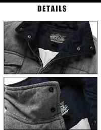 ★送料無料★暖かい暖コットンコート冬服冬物カジュアルアウターメンズ大きいサイズブルー[G1101]