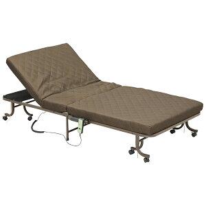 電動収納ベッド 収納ベッド 収納 ベッド キャスター付き 省スペース 完成品 リクライニング 折り畳み式 簡易収納 シングルサイズ