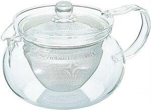 HARIO (ハリオ) 茶茶 急須 丸 450ml 耐熱ガラスポット 急須 プレゼント ギフト 贈リ物 祝 お祝い 記念品