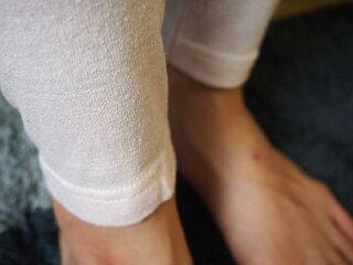 シルクノイル(シルク100%)婦人薄手インナーパンツ10分丈M、L、LL(ピンク)ライブコットン【楽ギフ_包装選択】