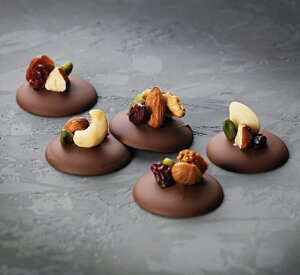 【10%OFF】チョコレートスクリーンΦ40×H2mm24P(3×8)ChocolateTuile&DiscKit