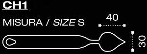 【20%OFF】PavoniFLYCHOCシリーズCH1ラージリーフ(大葉型)40x30mm
