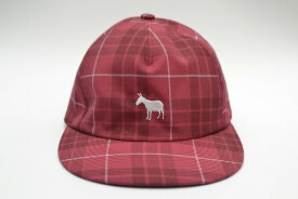 "Name. ネーム "" PLAID RAYON 5-PANEL CAP "" col.PINK(red)"
