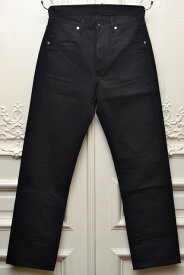 "TUKI ツキ "" duck tail pants - high count denim "" ダックテイルパンツ col.blue black (99)"