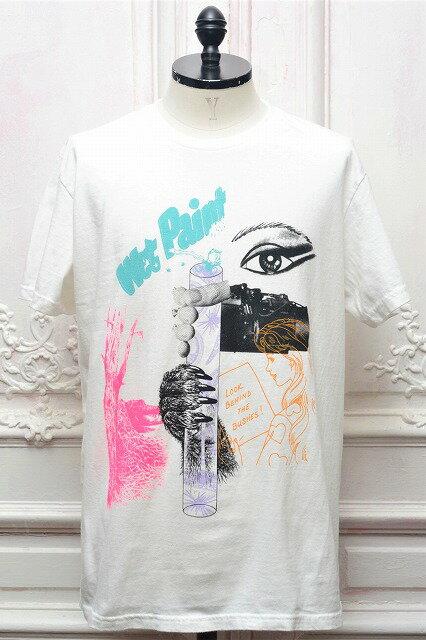 "TACOMA FUJI RECORDS タコマフジレコード "" Wet Paint - by Hisham Akira Bharoocha "" ショートスリーブプリントTee  col.WHITE"