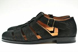 "F.lli Giacometti フラテッリ ジャコメッティ "" Fausto - Gurkha sandals "" エレファントグルカサンダル col.NERO"