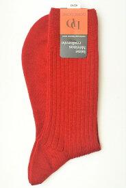 """DORE DORE ドレドレ """" Knit Rib Socks """" リブ編みニットソックス col.PONCEAU"""